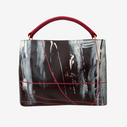 Oli Bag Brown Red Paint | Imago