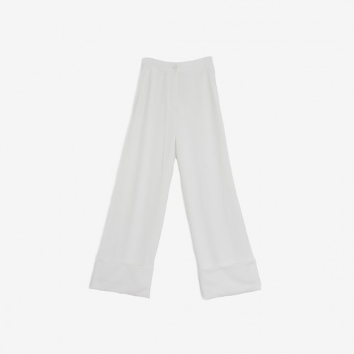 Wide White Trousers | Onírica